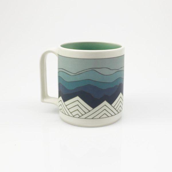 Blue Ridge Mountain Mug blue sky handle one