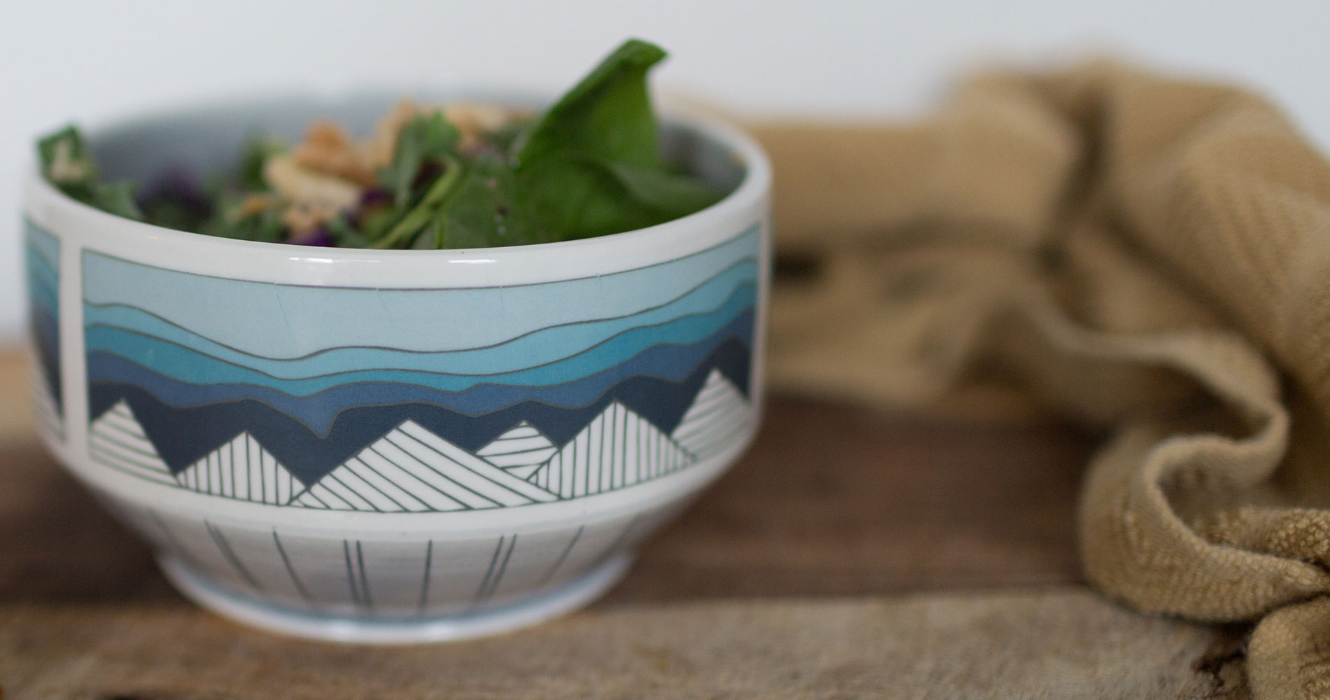 Blue Ridge Mountain Decal Bowl