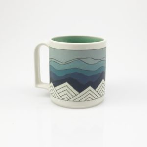 Blue Ridge Mountain Mug blue sky handle one