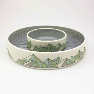 Geometric Mountain Chip and Dip