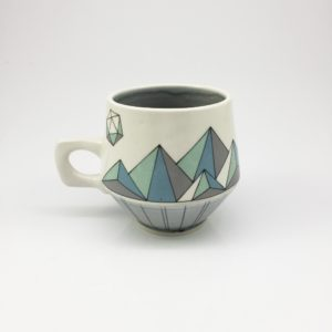 Geometric Low Poly Mountain Mug II
