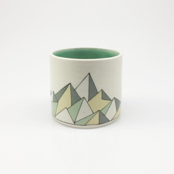 Low Poly Geometric Mountain Whiskey Cup 2